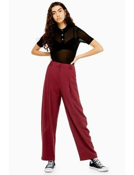 High Waist Slouch Trousers by Topshop