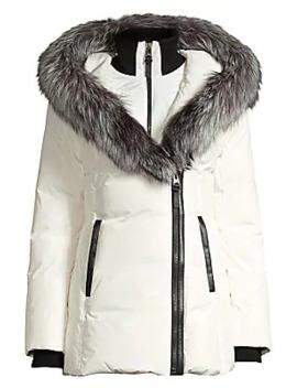 Adali Fox Fur Trimmed Down Jacket by Mackage