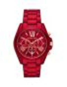 Bradshaw Chronograph Red Stainless Steel Watch by Michael Kors