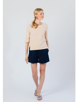 Carroll St Top In Terry Fleece (Natural Blush) by Dudley Stephens