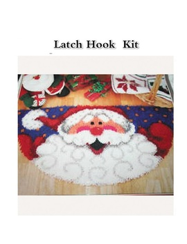 Santa Claus Hook Rug Kit Diy Unfinished Crocheting Yarn Mat Latch Hook Rug Kit Floor by Wish