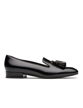 Polished Fumè Slip On Loafer Black by Church's Footwear