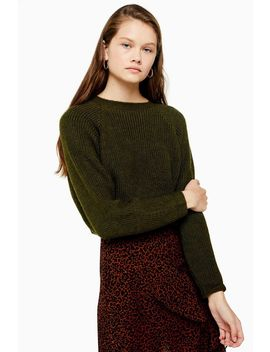 Knitted Super Crop Jumper by Topshop