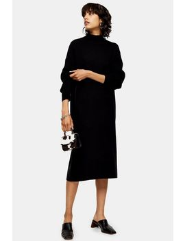 Longline Knitted Dress With Wool by Topshop