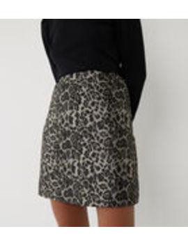 Leopard Jacquard Mini Skirt by Warehouse