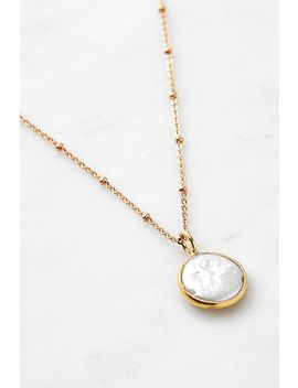 Mirabelle Pearl Pendant Gold Plated Necklace by Mirabelle