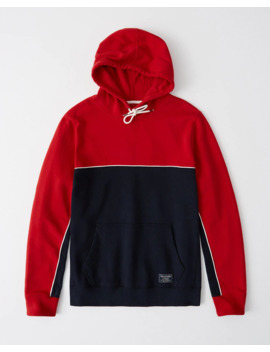 Piped Colorblock Hoodie by Abercrombie & Fitch