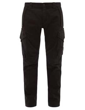 Mid Rise Cotton Blend Cargo Trousers by C.P. Company