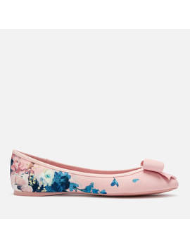 Ted Baker Women's Immep Floral Ballet Flats   Light Pink by Ted Baker