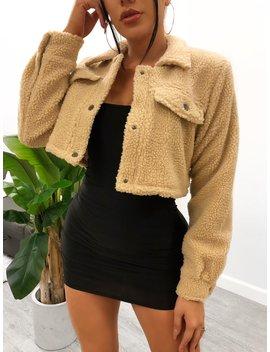 Melissa Crop Jacket (Beige) by Laura's Boutique
