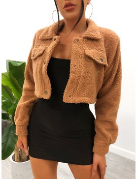 Melissa Crop Jacket (Apricot) by Laura's Boutique