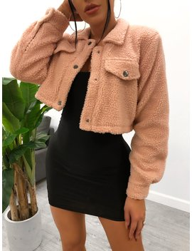 Melissa Crop Jacket (Dusty Pink) by Laura's Boutique