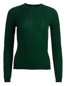 Collection Wide Rib Knit Wool Sweater by Saks Fifth Avenue