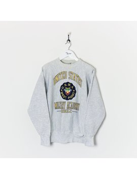 United States Military Academy Sweatshirt Light Grey Large by True Vintage Clothing