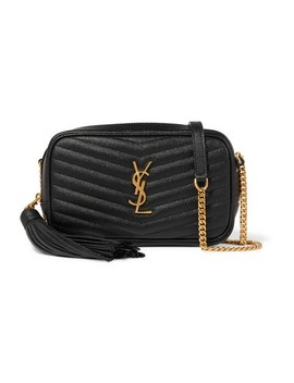 Monogram Camera Mini Lou Black Calfskin Leather Cross Body Bag by Saint Laurent