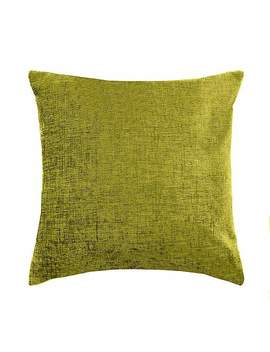 Chenille Olive Cushion by Dunelm