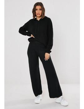 Black Knitted Trousers And Hoodie Co Ord Set by Missguided