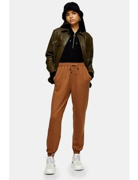 Brown 90's Oversized Joggers by Topshop