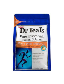Dr Teal's Soaking Bathsalt Pre N Post Workout 1.36 Kg by Superdrug