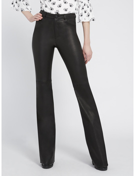 Brent High Waisted Leather Pant by Alice And Olivia