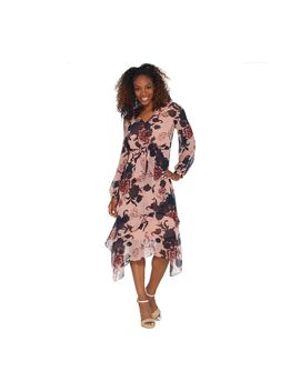 G.I.L.I. Layered Chiffon V Neck Dress by Gi.L.I. Got It Love It®.