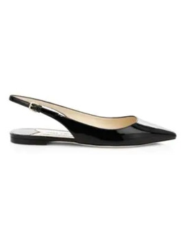 Erin Patent Leather Slingback Flats by Jimmy Choo