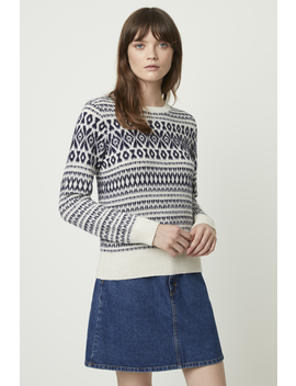 Esme Fair Isle Knits Sweater by French Connection