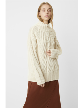 Nissa Chunky Cable Knit Sweater by French Connection