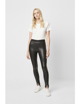 Celina Faux Leather Leggings by French Connection