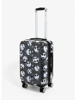 Ful The Nightmare Before Christmas Jack Head Hard Sided 21 Inch Carry On Rolling Luggage by Hot Topic