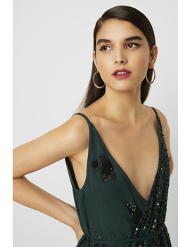 Aurora Embellished Wrap Top by French Connection