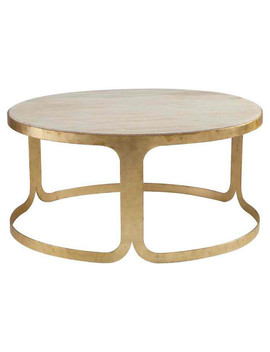 Magnussen Furniture Benett Round Coffee Table, Antique Gold Dt 9002 45 by Magnussen Home Furnishings