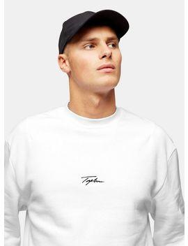 Signature White Printed Sweatshirt by Topman