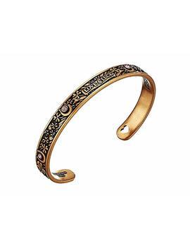 Path Of Symbols   Fortune's Favor Cuff W/ Swarovski® Crystals Bracelet by Alex And Ani