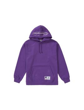 Supreme Champion Outline Hooded Sweatshirt Purple by Stock X