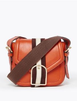 Leather Mini Saddle Bag by Marks & Spencer
