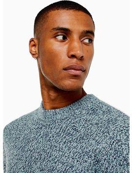 Light Blue Twist Knitted Jumper by Topman