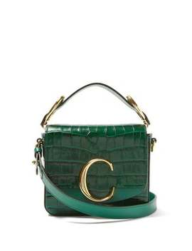 The C Mini Crocodile Effect Cross Body Bag by Chloé