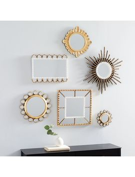 Peruvian Wall Mirrors   White/Gold by West Elm
