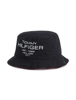 Am Mustique Logo Embroidered Reversible Bucket Hat by Tommy Hilfiger