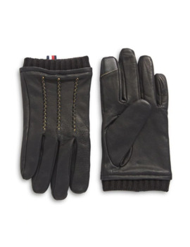 Pop Colour Fleece Lined Touchscreen Gloves by Tommy Hilfiger