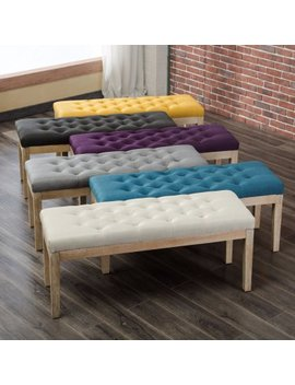 Roundhill Furniture Mod Urban Button Tufted Upholstered Dining Bench by Roundhill Furniture