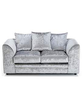 Michigan Velvet 2 Seater Sofa by Dunelm