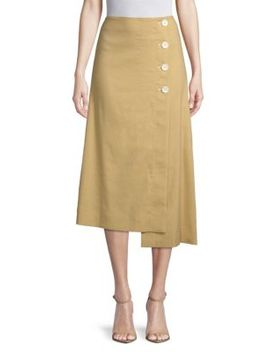 Flared Button Skirt by Robert Rodriguez