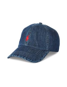 Logo Denim Baseball Cap by Polo Ralph Lauren