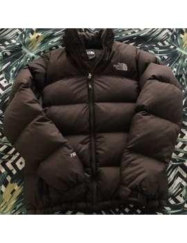 The North Face 700 Down Nuptse Dark Brown Puffer by Depop