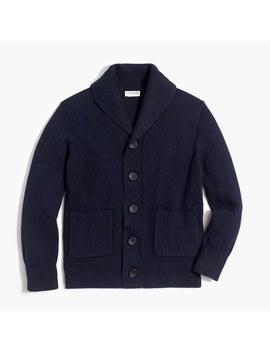 Boy's Cotton Shawl Collar Cardigan Sweater by J.Crew