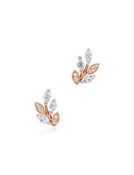 Tiffany Victoria®        Diamond Vine Earrings In 18k Rose Gold by Tiffany Victoria®