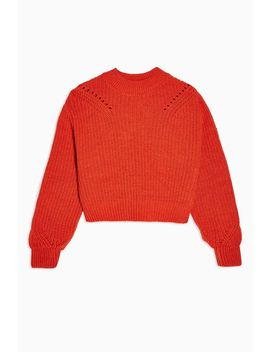 Ladder Detail Cropped Sweater. by Topshop