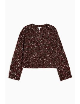 Knitted Neppy Cropped Sweater by Topshop